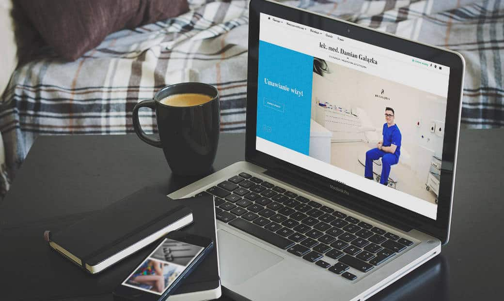 strona internetowa lekarza medycyny estetycznej Dr Gałązka